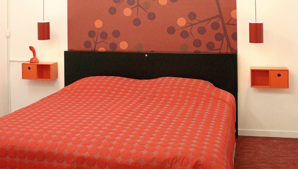 Rødt hus - soveværelse