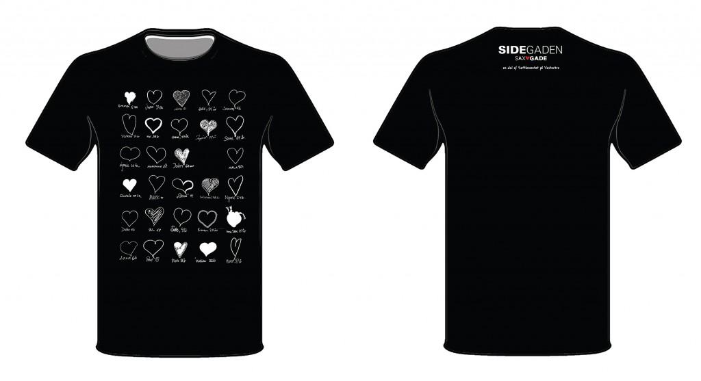 Sidegaden t-shirt sort